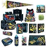 Familando Transformers Schulranzen Set 20tlg. mit Federmappe, Schreibtischauflage und Schultüte 85cm PL