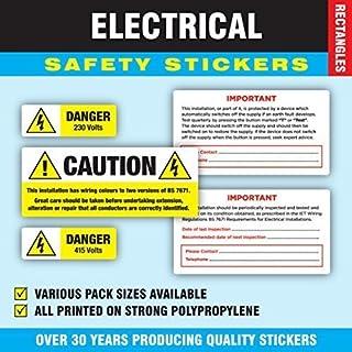 Gemischte Packung Von 240 - Elektrosicherheit Aufkleber / Etikett (48 von jeder design)
