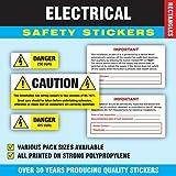 assortito unidades 240-Seguridad Eléctrica pegatinas/etiquetas (48de cada dibujo)