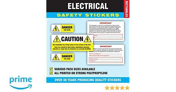 NO Contact details Periodic Electrical Safety Test Stickers