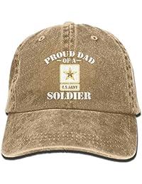 Aoliaoyudonggha Proud US Army Dad Unisex Adjustable Cotton Denim Hat Washed  Retro Gym Hat cap Hat d341943c97a