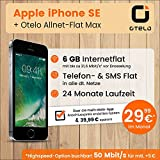 Apple iPhone SE mit 32GB internem Speicher, Otelo Allnet-Flat Max inkl. 6 GB Datenvolumen mit Max 21,6 Mbit/s inkl. Telefonie- und SMS-Flat, EU-Roaming, 24 Monaten Min. Laufzeit, mtl. € 29,99