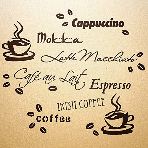 Wandtattoo Kaffeebohnen Küche
