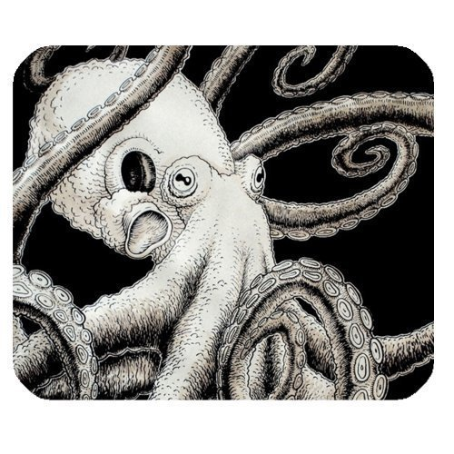"""Rectangular Mouse Pad Non-Slip Rubber Computer Mousepad Octopus One Size(9.84""""x7.87"""")"""
