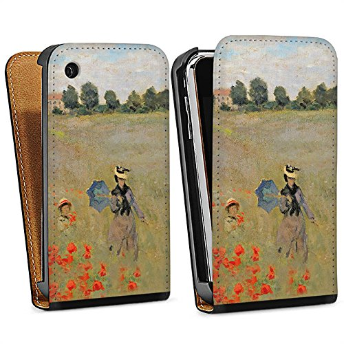 Apple iPhone 5 Housse Étui Silicone Coque Protection Claude Monet Tableau Art Sac Downflip noir
