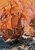The Poster Corp Science Source – Francis Drake Battles Spanish Armada 1588 Fine Art Print (45.72 x 60.96 cm)