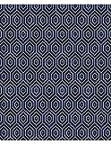 Polsterstoff Möbelstoff Bezugsstoff Meterware für Stühle, Eckbänke, etc. - Breeze Blau Abstrakt Polypropylen - Muster