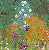 Gustav Klimt Bauerngarten I. 100% handbemalt. Öl auf Leinwand. Reproduktion. (ungerahmt und ungedehnt). 28x28 Same to the Original