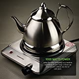 Ovente BGI201S 1000 Watts Trendy Portable Ceramic Infrared Cooktop Burner