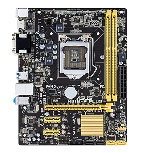 Asus H81M-P Plus Mainboard Sockel (Micro-ATX, Intel 4th Generration, 2x DDR3-Speicher, USB 3.0)