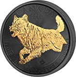 Power Coin Canadian Wolf Golden Enigma 1 oz Silber Münze 5$ Canada 2018