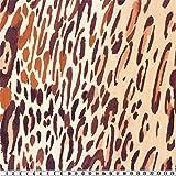 alfa HOME Crêpe, Animal-Print, Orange-Rot, ca. 145 cm
