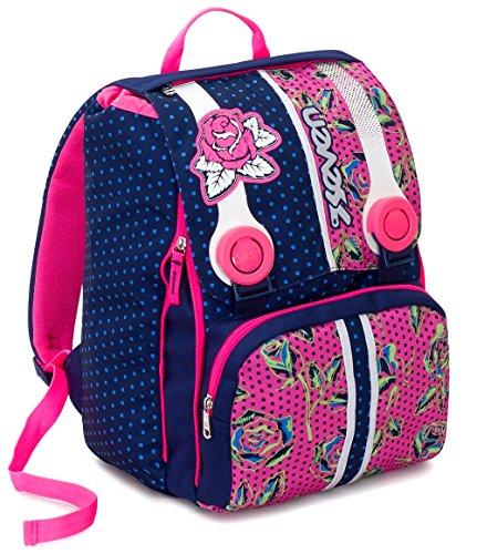 Zaino scuola estensibile seven , romantic , blu rosa , 28 lt , elementari e medie