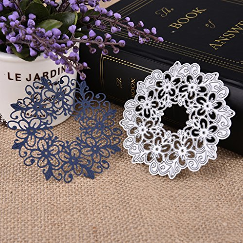 Hergon Dies De Découpe Fleurs Creuses Bricolées Cutting Dies, Matrices De Découpe Album Décoration Papier Carte Craft Scrapbooking