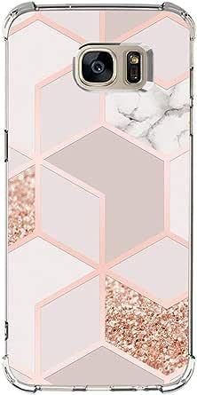 Jeack Case Kompatibel Mit Samsung Galaxy S6 Edge Hülle Marmor Design Hochwertig Weich Silikon Ultradünn Cover Handyhülle Kratzfest Handy Schutzhülle Anti Gelb Bumper Cover 1 Mäntel Bekleidung