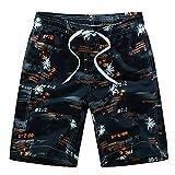 WDDGPZDK Pantaloncini Da Spiaggia/Estate Spiaggia Pantaloncini Moda Stampato Quick Dry Board Shorts M-3Xl 216,Arancione,M