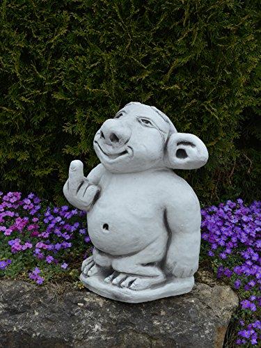 """Riesen XXL Troll """"Mittelfinger"""" Stinkefinger aus Steinguss, frostfest - 5"""