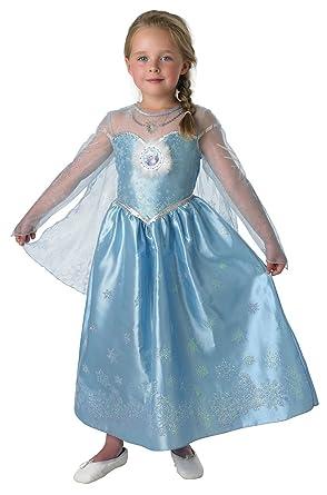 costume de elsa luxe la reine des neiges pour fille 3 4 ans amazonfr jeux et jouets