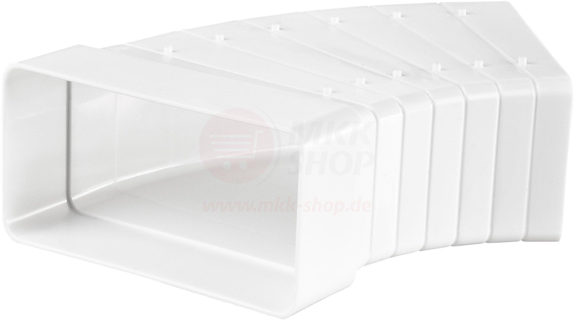 Piatto canale 55x 110mm Arco 3° 11° 18° 26° 33° 41° 48° tubo di ventilazione tubo canali pa