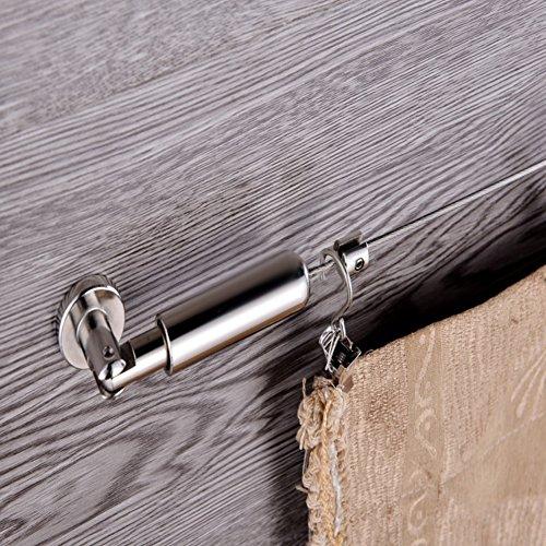 LianLe Seilspanngarnitur Seilspanner Gardinenseil Drahtseil Länge 5 m (B)