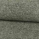 Stoffe Werning Wollstrick meliert grau Uni einfarbig Winterstoff - Preis Gilt für 0,5 Meter