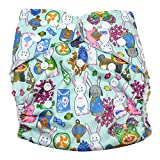 Aivtalk Baby Training Pants Waschbar Stoffwindeln Trainerhose Wiederverwendbare Tuch Windeln Windelhose Unterwäsche Töpfchentraining Größe Verstellbar, 0-2 Jahre(Kaninchen Mehrfarbig)