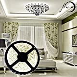 led strip,Mihaz SMD 3528 led strip lights,16.4ft 5M 300 LED Ribbon Light, Tape LED Warm White led strips lighting, Waterproof Outdoor Light Strip for Gardens Homes Bars Car Styling Kitchen Cabinet DIY Party Decoration(5M 3528 SMD White Strip ONLY)