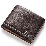 Premium-Leder Geldbörse Brieftasche Clutch,RFID-Schutz Geldbeutel Klein Handtasche Portmonee MünzeTasche Schlüsseltasche Reißverschlusstasche Kartenhüllen mit Innenfach für JungenHerren Jugend