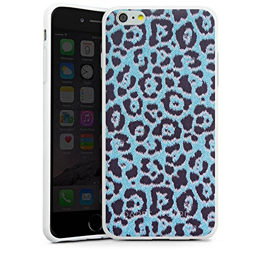 Apple iPhone X Silikon Hülle Case Schutzhülle Leo Muster Blau BARRE NOIRE Silikon Case weiß