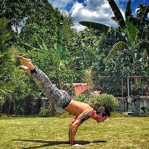 Pantalon de Sport ❤ Femmes leggings Fitness Yoga Pantalons athlétiques ❤ Pantalon Boho Black