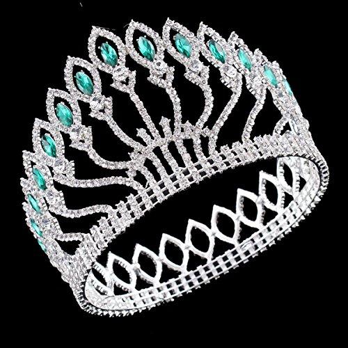 Santfe boda tiara Azul Joya de la tiara cristales, Plata