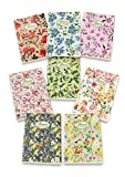 Pigna Nature Flowers 02088364M, Quaderno formato A4, Rigatura 4M, quadretti 4 mm per 4° e 5° elementare medie e superiori, Carta riciclata 80g/mq, Pacco da 10 Pezzi