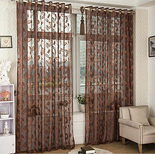 De alta calidad bordado hoja hueco pantallas transpirable balcón dormitorio cortinas de ventana transparente hueco ventilado 150cmx265cm (60x106 pulgadas) -1 pieza , 3 , 1*?250*265cm?