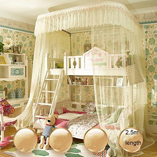 uus Letti a castello netti letto matrimoniale letto e letto a scomparsa letto da 1,35 m bella rete zanzara per le zanzare rete da zanzariera a 4 letti ( Colore : A , dimensioni : Hight 2.5m )