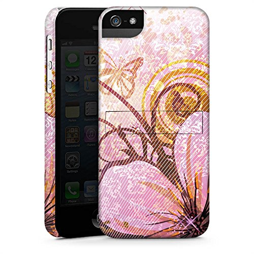 Apple iPhone 4 Housse Étui Silicone Coque Protection Papillon Fleur Fleur CasStandup blanc