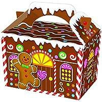 Maison en pain d'épices Man ~ anniversaire Nourriture Boîtes de Butin fête/boîte de cadeaux de Noël, 10 Boxes