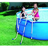 """Jilong 2 STEP POOL LADDER FOR ABOVE GROUND UP TO 33""""/84 cm SWIMMING POOL WALL HEIGHT"""