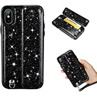 Ostop Bling Brieftasche Leder Hülle für iPhone XS Max 6.5 Zoll, Kartenfach Ultra Dünn PU Standfunktion Magnetverschluss... preisvergleich bei billige-tabletten.eu