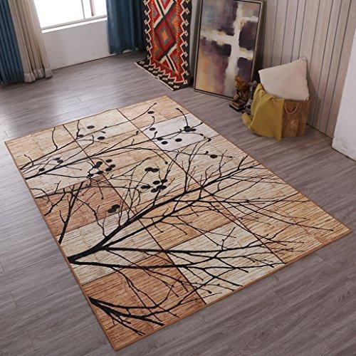 FOO Teppiche Klassische europäische Retro Teppichkunst Rutschfester großer Teppich für Wohnzimmerschlafzimmer Teppich zeitgenössischer Wohn- und Schlafbereich T (größe : 120X160cm)