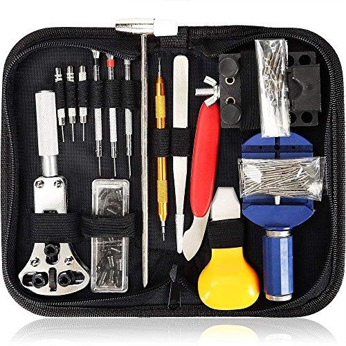sookg Neueste und tragbar 147PCS Reparatur-Set Profi Schraubendreher Spring Bar Tool Set, Watch Band Link Pin Werkzeug Set mit Tragetasche (Uhren-Reparatur)