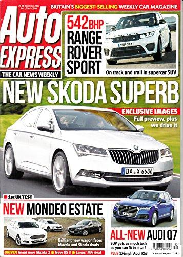 Auto Express (UK) #1350 2014 Skoda Superb Audi Q7 Range Rover Sport Zeitschrift Magazin Einzelheft Heft Car Auto