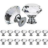30 mm kristalglazen deurgrepen, voor meubels, kasten, laden, trekgreep met schroefdraad, transparant