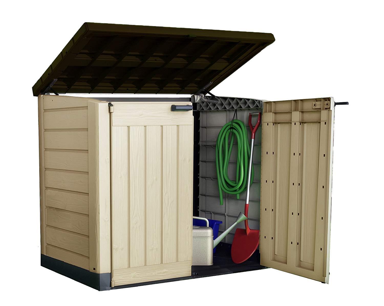 Keter Mülltonnenbox Store it Out Max, Beige, 1.200L, 145.5 x 82 x 125 cm (L x H x W)