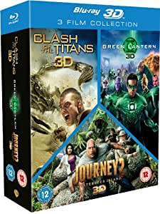 Clash of the Titans/Green Lantern/Journey 2 Triple Pack [Blu-ray 3D + Blu-ray] [2012] [Region Free]