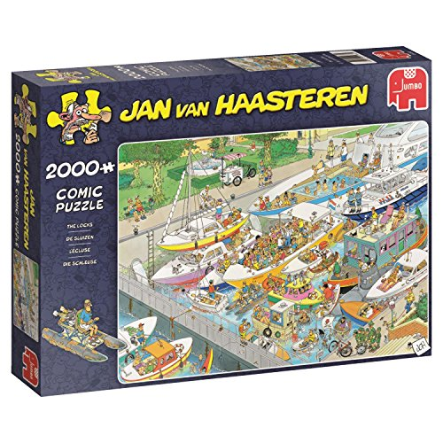 Jumbo 19068 - The Locks 2000 Teile Puzzle (Fluss Boot Puzzle)