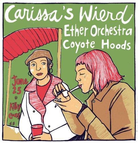 Carissas Wierd 25/6/03 édition limitée Par sérigraphie Poster musique Leia Bell Original signées et numérotées avec : Carissas Weird, éther orchestre, Coyote hottes aspirantes