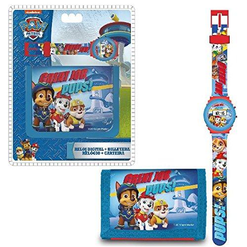 Paw Patrol Official Digital Watch & Wallet Set PW16271