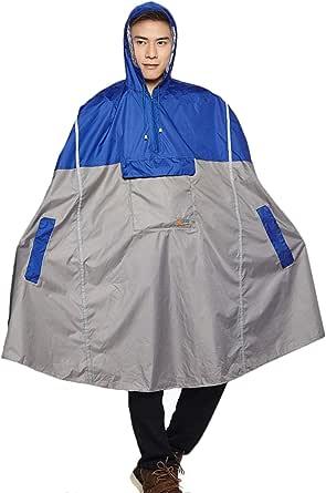 Freiesoldaten Men/Women Waterproof Cycling Rain Poncho Lightweight Outdoor Hiking Rain Cape Raincoat with Hood