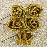 Butterme 50pcs DIY Real Touch 3D Künstlich Blumen Rose Schaumrosen