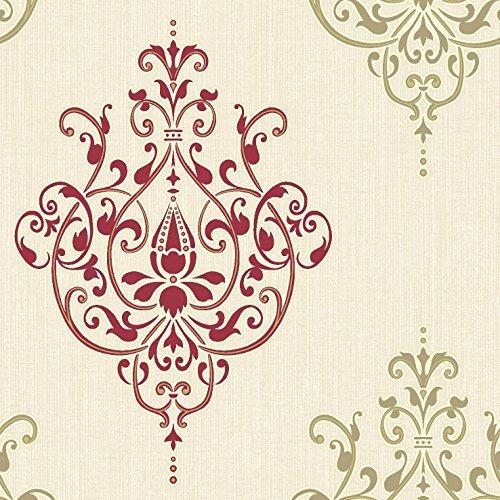 new-luxury-holden-cassandra-damask-embossed-textured-glitter-wallpaper-red-cream-75476